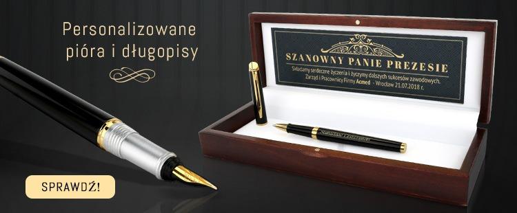 Zestaw pióro i długopis na prezent