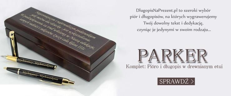 Pióro i długopis Parker z personalizacją