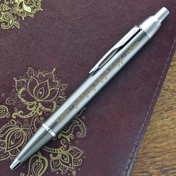 długopis z grawerem życzeń na prezent
