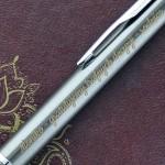 grawerowana dedykacja na długopisie parker