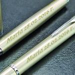 grawerowane pióro i długopis Parker