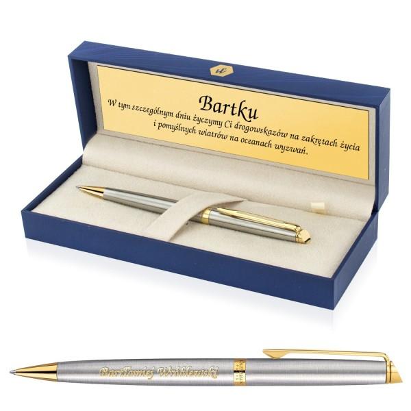 elegancki długopis dla mężczyzny w pudełku z dedykacją