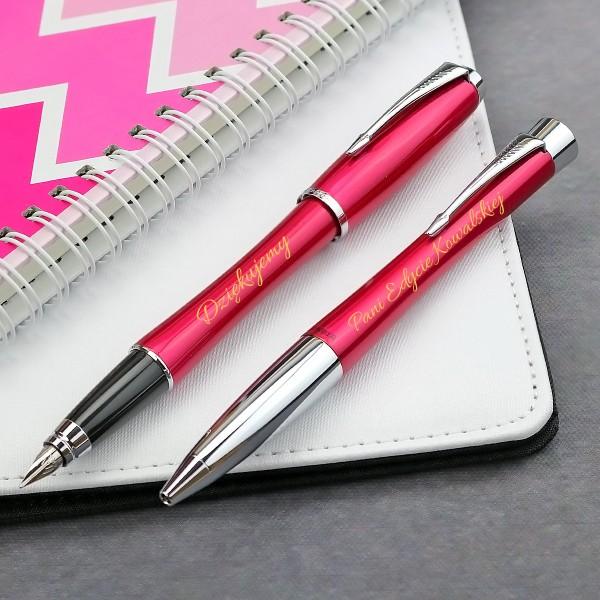 zestaw pióro i długopis Parker z grawerem