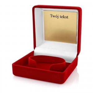 pudełko na zegarek z grawerem dedykacji