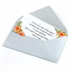 bilecik z Twoimi życzeniami dla niej