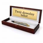 długopis Parker w drewnianym pudełku z grawerem na prezent