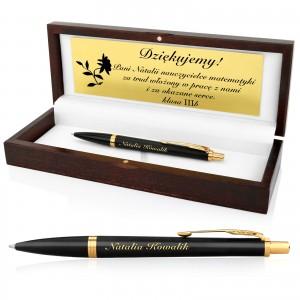 długopis parker w pudełku z grawerem dla nauczyciela matematyki