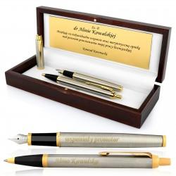 pióro i długopis parker z grawerem na podziękowanie dla promotora