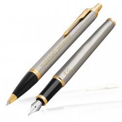 zestaw pióro i długopis parker z grawerem na podziękowanie dla promotora