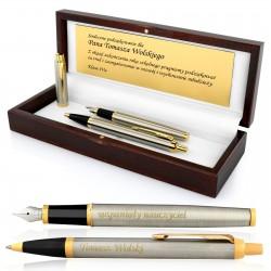 pióro i długopis parker z grawerem na prezent dla nauczyciela
