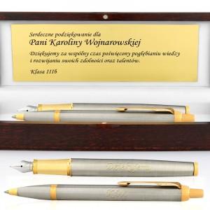 prezent na zakończenie roku szkolnego pióro i długopis parker