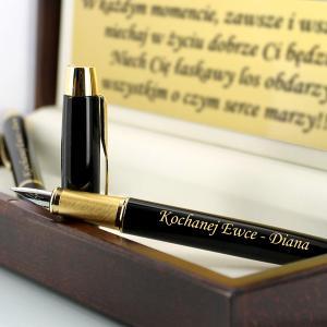 zestaw parker: długopis i i pióro w etui z grawerem
