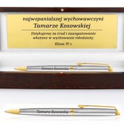 długopis z grawerem na podziękowanie dla wychowawczyni