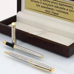 pióro i długopis waterman z grawerem