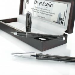 długopis i pióro z indywidualną dedykacją