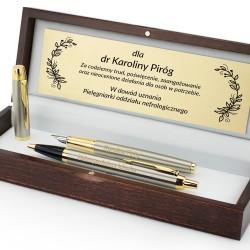 pióro i długopis w zestawie z grawerem dedykacji