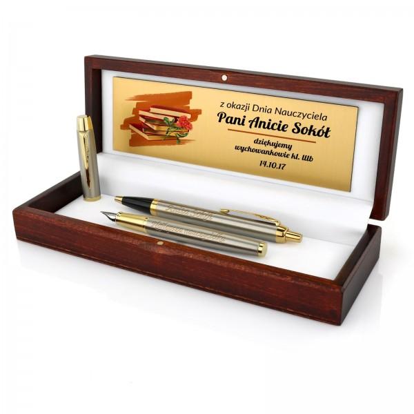 zestaw pióro i długopis parker z personalizacją