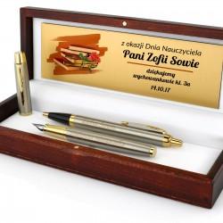 zestaw pióro i długopis parker z grawerem dedykacji