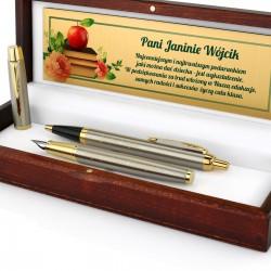 pióro i długopis firmy parker z grawerem dedykacji