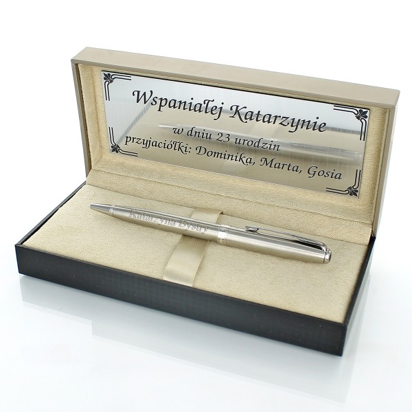 grawerowany długopis sonnet parker