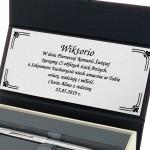 pamiątka komunijna długopis z pudełku z dedykacją